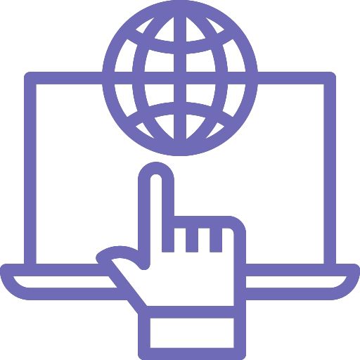 Domain And Website Hosting Icon